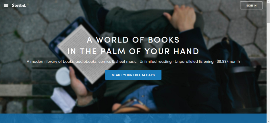 scribd homepage