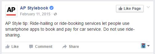 Bukan ride sharing, tapi ride hailing