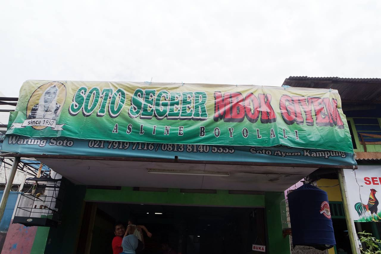 Soto Boyolali Mbok Giyem