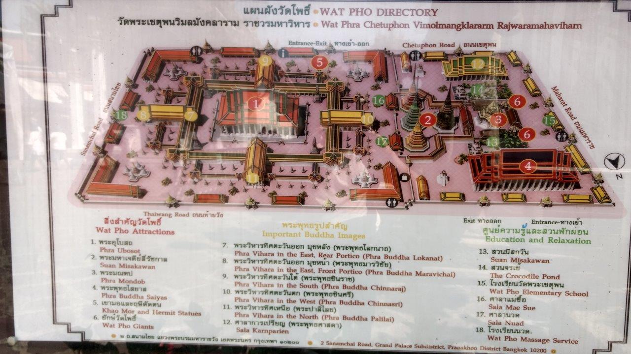 Peta lokasi Wat Pho Bangkok